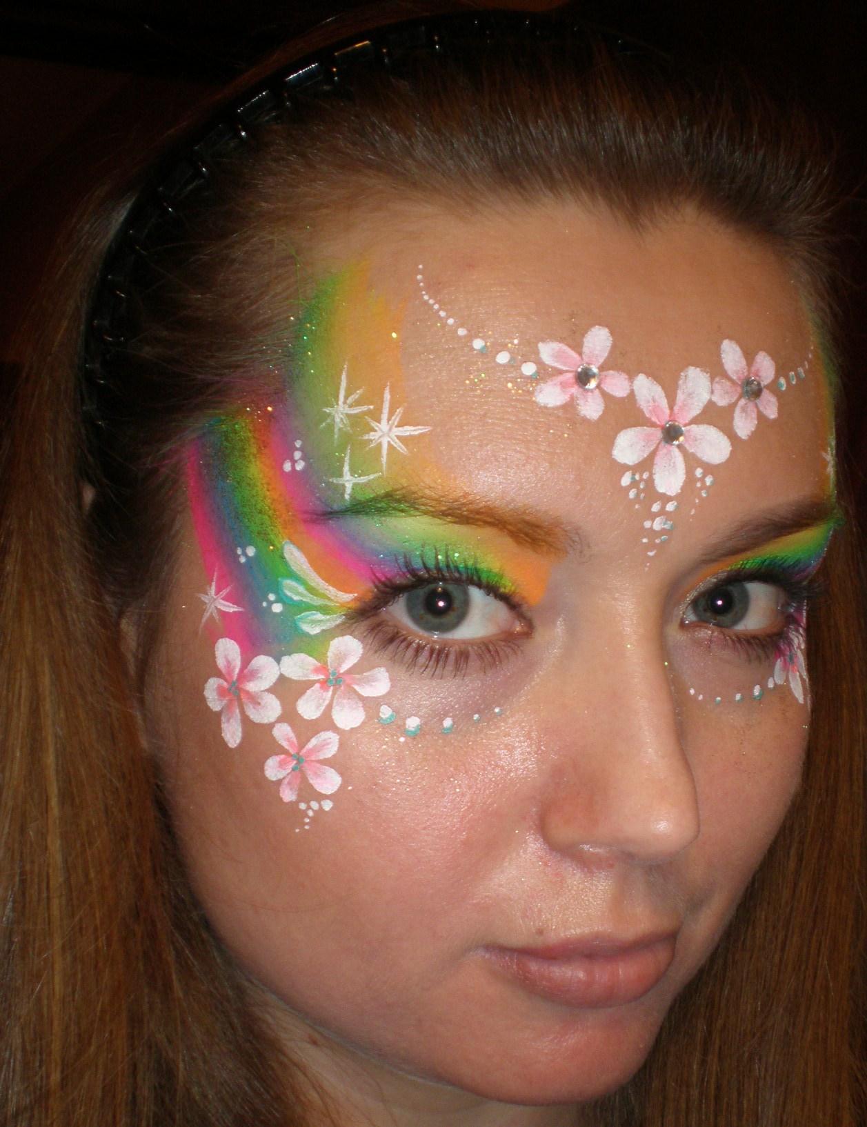 Узоры на лице для девушек фото